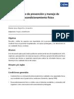 PROTOCOLO DE PREVENCIÓN Y MANEJO DE DESACONDICIONAMIENTO FÍSICO