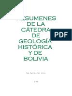 Geología Histórica y de Bolivia Ing
