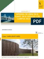 SEMANA 07 PPT INTEGRAL DE LINEA EN EL PLANO, EN EL ESPACIO Y DE CAMPOS VECTORIALES.pdf
