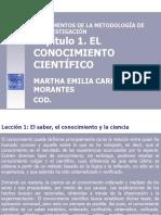 DIAPOSITIVAS EL CONOCIMIENTO CIENTIFICO - TRABAJO INDIVIDUAL
