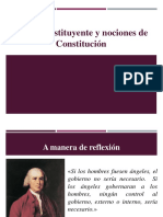 Poder constituyente y nociones de Constitución4