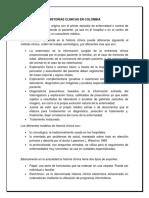 HISTORIAS CLINICAS EN COLOMBIA