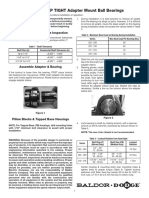 DODGE® GRIP TIGHT Adapter Mount Ball Bearings