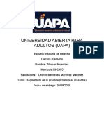 Reglamento de la práctica profesional Wascar Alcantara 09-2495