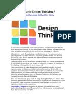 Qu-est ce que le design thinking?