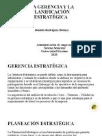 LA GERENCIA Y LA PLANIFICACIÓN   ESTRATÉGICA