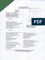 2020-10-20 - Plaintiff - Motion for Emergency Injunction