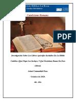 Investigación Sobre Los Libros Apocrifos Incluidos En La Biblia
