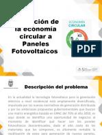 Economía Circular Paneles Fotovoltaicos