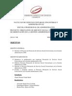 Plan de Trabajo R.S. VII y VIII