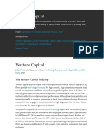 Venture Capital overview