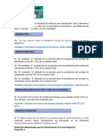 Engel Pérez Formluación de la Hipótesis Tarea No.6