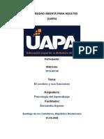 TAREA DE PSICOLOGIA DE APRENDISAJE 1