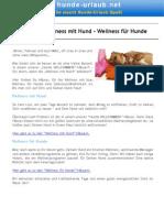 11_Hotels für Wellness mit Hund –Wellness für Hunde