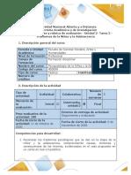 Guía de actividades y rúbrica de evaluación. Tarea 2 - Trastornos de la niñez y la adolescencia