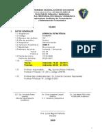 X GERENCIA ESTRATEGICA 2020-II Plan 2014 APROBADO