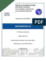 Orientación Académica MAT415