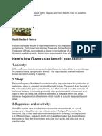Top Health Benefits of Flowers