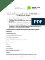 INSTRUCTIVO PARA REALIZAR EL PROYECTO DE CÁTEDRA