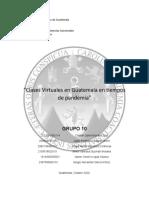 Clases Virtuales en Guatemala en tiempos de Pandemia - GRUPO 10