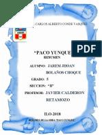 Resumen de La Obra Paco Yunque Parte 4