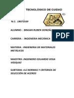 4.6 normas y criterios de selección de aceros