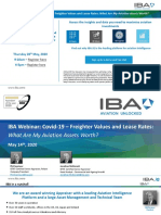 IBA's Webinar Covid-19 - Freighter Values and Lease Rates