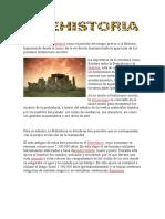 Podemos definir Prehistoria como el periodo de tiempo previo a la Historia
