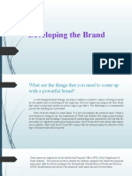 Developing the Brand Report