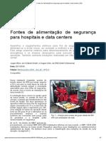 Fontes de alimentação de segurança para hospitais e data centers _ EM