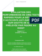 ÉVALUATION DES PERFORMANCES DE CINQ TESTS RAPIDES