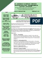 February 6, 2011 Bulletin