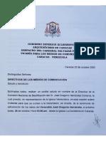 Arquidiócesis de Caracas Comunicado
