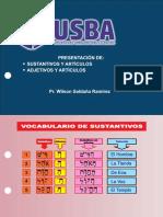 3 PRESENTACION DE SUSTANTIVOS Y ADJETIVOS CON SUS ARTÍCULOS