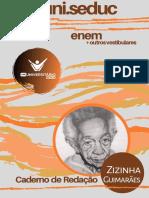 CADERNO DE REDAÇÃO - PREUNI 2020