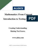 ALEKS - Success in K12 Testing - August 2008