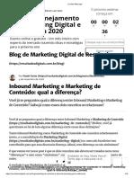 Saiba qual a diferença entre Inbound Marketing e MKT de Conteúdo
