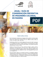 Manual de Conservacion Preventiva de imagineria colonial en Madera