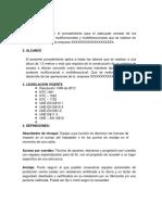 PROCEDIMIENTO ARMADO DE ANDAMIOS