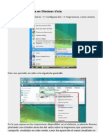 Compartir impresora en Windows Vista
