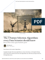 The 5 Feature Selection Algorithms every Data Scientist should know