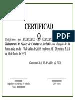 Certificado(Combate a incendio)