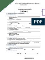 FICHA DE INSCRIPCION DE URUSAYHUA 2020