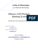 Report For LED Wireless Dimming Control