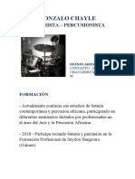 CURRICULUM VITAE GONZALO CHAYLE