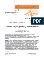 O Futuro as Instituições Especializadas - Mendes (2019)