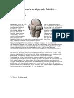 Tipos de Arte en el periodo Paleolítico