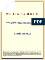 Wuthering Heights (Websters Thesaurus Edition) by Emily Bronte
