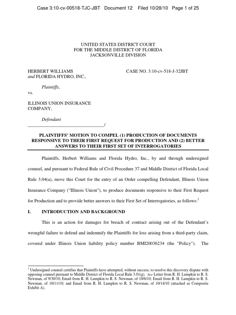 WILLIAMS et al v  ILLINOIS UNION INSURANCE COMPANY Plaintiff