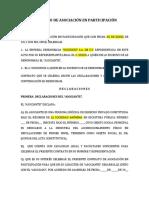 CONTRATO DE ASOCIACION EN PARTICIPACION XXXXX